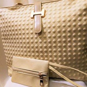 Handbags - Clearance➡🆕Trendy European Handbag- Bubble Cream